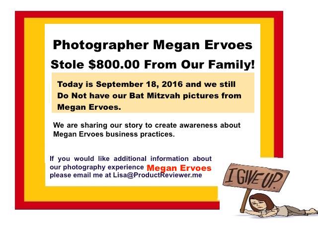 Aliso Viejo Photographer Megan Ervoes Review