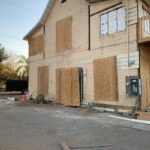 This is a photo of our Redlands remodel boarded up.